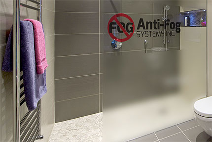 An Example of Anti-Fog Prevent Fog on a Bathroom Shower Door